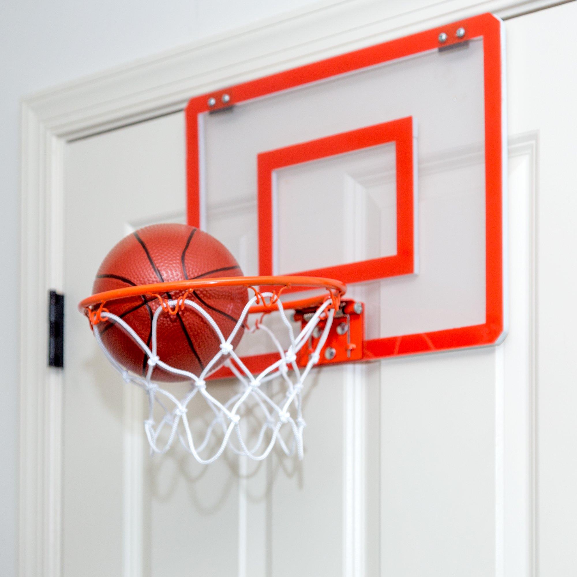 Play Platoon Mini Basketball Hoop for Door - 16 x 12 Inch Bedroom Basketball Hoop Indoors Set by Play Platoon (Image #3)