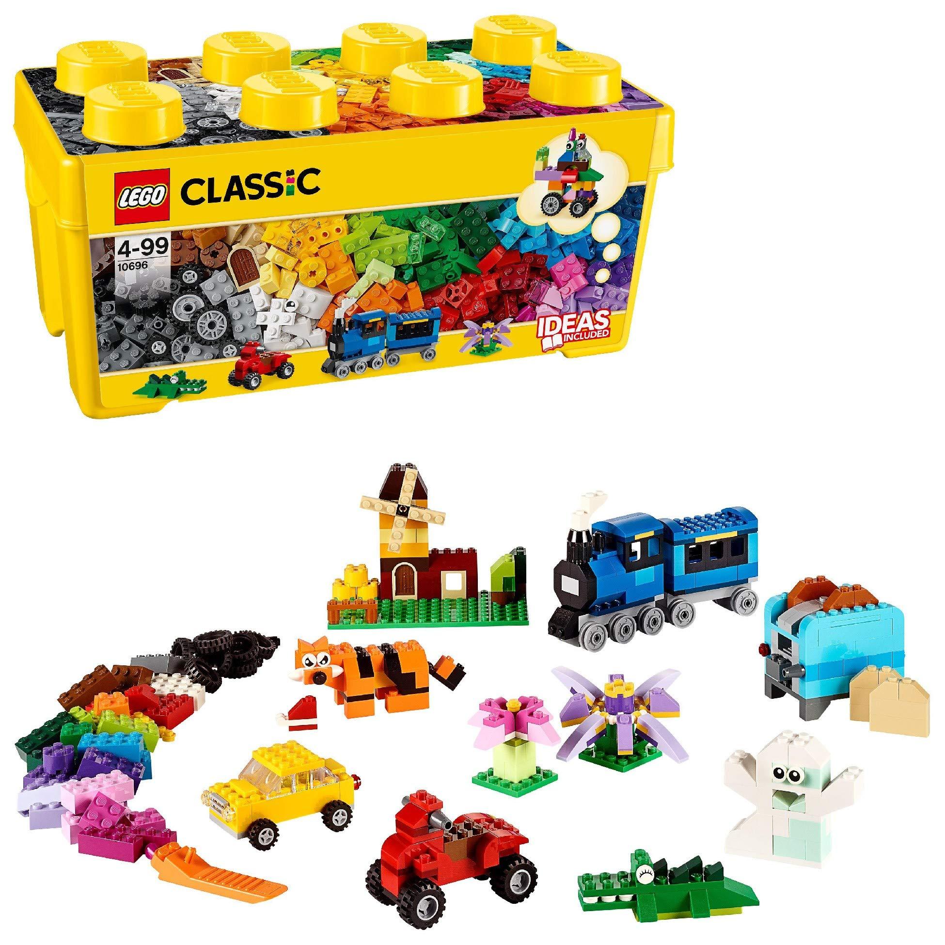 LEGO 10696 Classic Medium Creative Brick Box, Easy Toy Storage, Lego Masters Fan Gift                LEGO60226CityMarsResearchShuttleSpaceshipConstructionToysforKidsinspiredbyNASAwithRoverandDrone                LEGO31058CreatorMightyDinosaursToy,3in1Model,TriceratopsandPterodactylDinosaurFigures,ModularBuildingSystem                LEGO42093TechnicChevroletCorvetteZR1RaceCar,2in1HotRodToyCarModel,RacingVehiclesCollection                LEGO76895SpeedChampionsFerrariF8TributoRacerToy,withRacingDriverMinifigure,RaceCarsBuildingSets