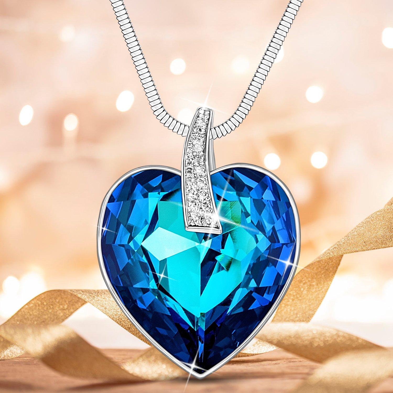Amazon.com: Lydia Queen corazón Ocean vidrio austriaco ...