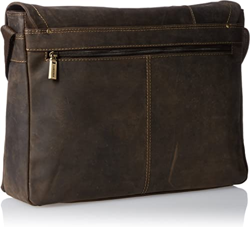 Visconti Foster 13.3 Inch Distressed Oiled Leather Laptop Messenger Bag, Brown, One Size