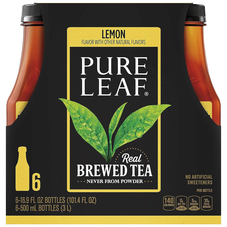 Pure Leaf Sweetened Iced Tea With Lemon, 16.9 Fl. Oz (pack of 6)