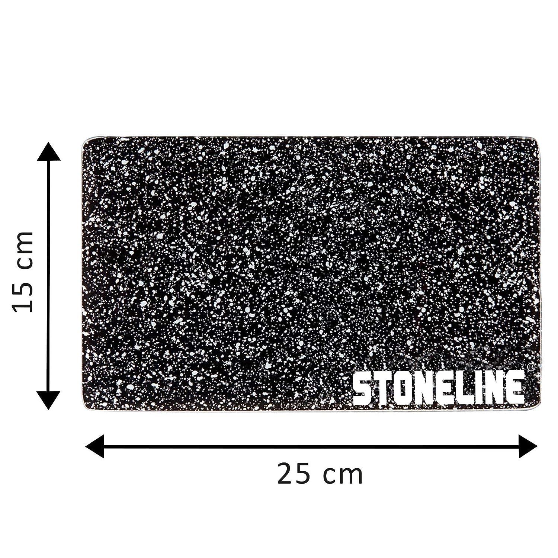 4 Piezas Stoneline Cuadrado Juego de Tabla de Corte de Cristal 25 x 15 cm