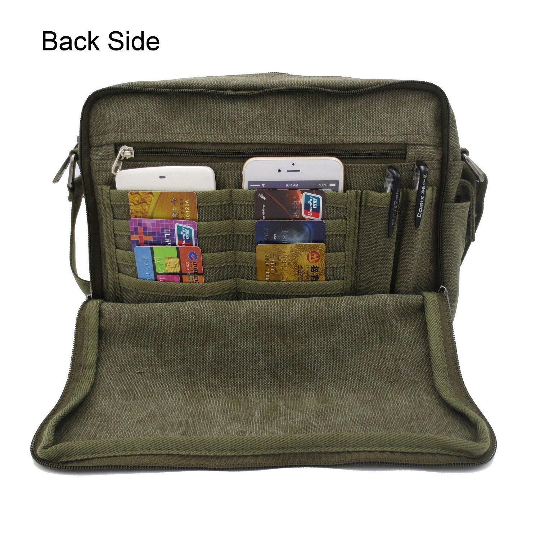 Amazon.com  Messenger Purse Bag Men Multifunction Versatile Womens Canvas  Messenger Bag Handbag Crossbody Shoulder Bag for Tablet Leisure Change  Packet ... 7ff09f33cdbf8