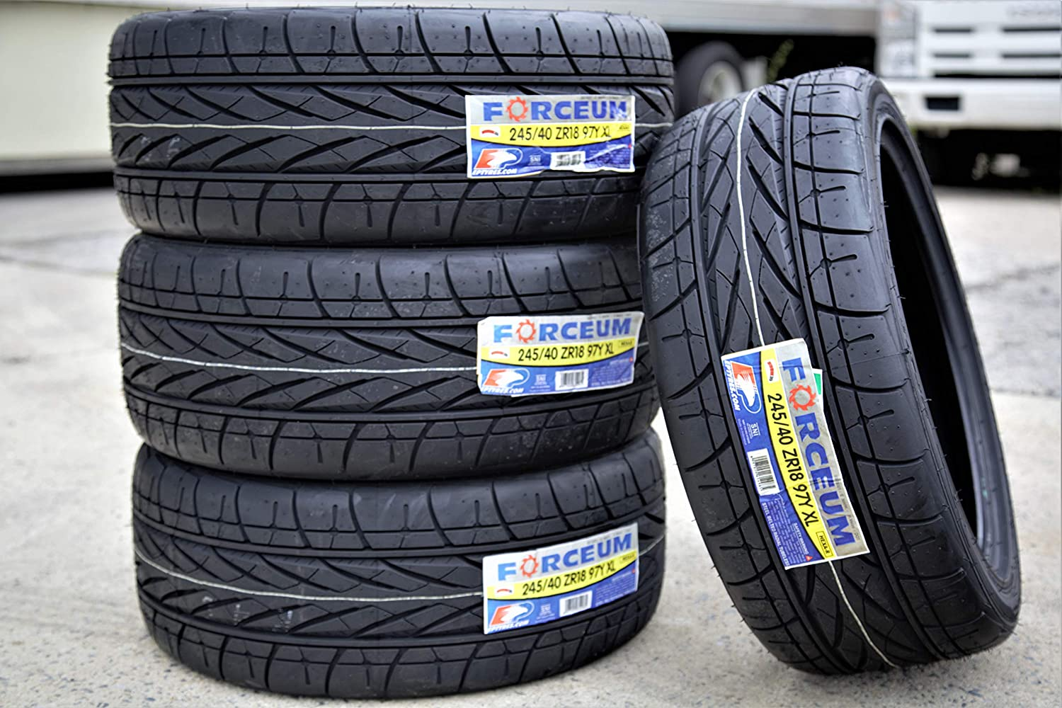 Hexa-R All-Season Radial Tires-245//40ZR18 97Y FOUR Forceum Set of 4