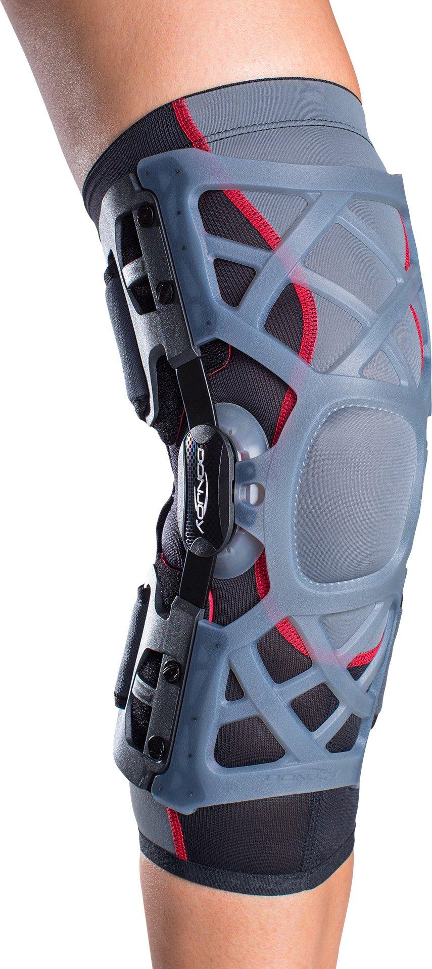 DonJoy OA (Osteoarthritis) Reaction WEB Knee Support Brace: Medial Right/Lateral Left, Medium