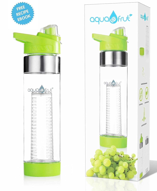 NEW COLORS AquaFrut Bottom Loading Fruit Infuser Water Bottle 24 oz (Pink)