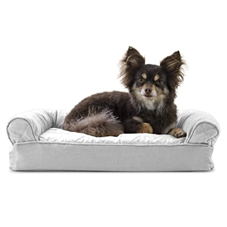 Fabulous Furhaven Pet Dog Bed Memory Foam Quilted Traditional Sofa Style Living Room Couch Pet Bed W Removable Cover For Dogs Cats Silver Gray Small Gmtry Best Dining Table And Chair Ideas Images Gmtryco