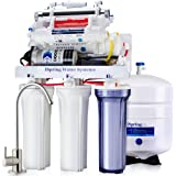 iSpring RCC1UP-AK 7 Stage 100 GPD Maximum Performance UnderSink Reverse Osmosis Drinking Water Filtration System With Booster Pump, Alkaline Ph+ Remineralization Filter And UV Sterilizer, White