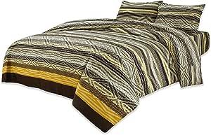 هوم كومفورت مجموعة لحاف السرير , 3 قطع , متعدد الالوان