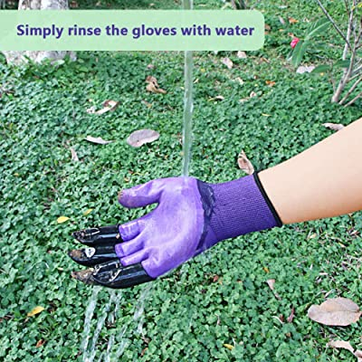 Garden Clamming Glove Waterproof Digging Planting Working Glove