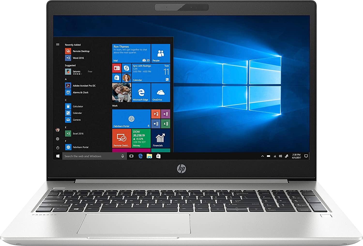 "HP ProBook 450 G6 15.6"" LCD Notebook - Intel Core i7 (8th Gen) i7-8565U Quad-core (4 Core) 1.80 GHz - 16 GB DDR4 SDRAM - 256 GB SSD - Windows 10 Pro 64-bit (English) - 1920 x 1080 - Natural Silve"