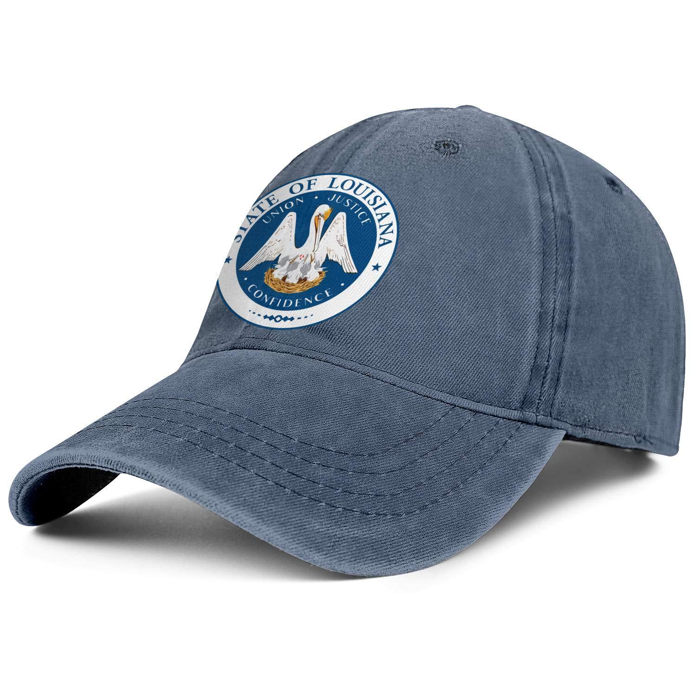 TopCrazy State of Louisiana Denim Snapback Hat Men//Women Best Cowboy Baseball Caps