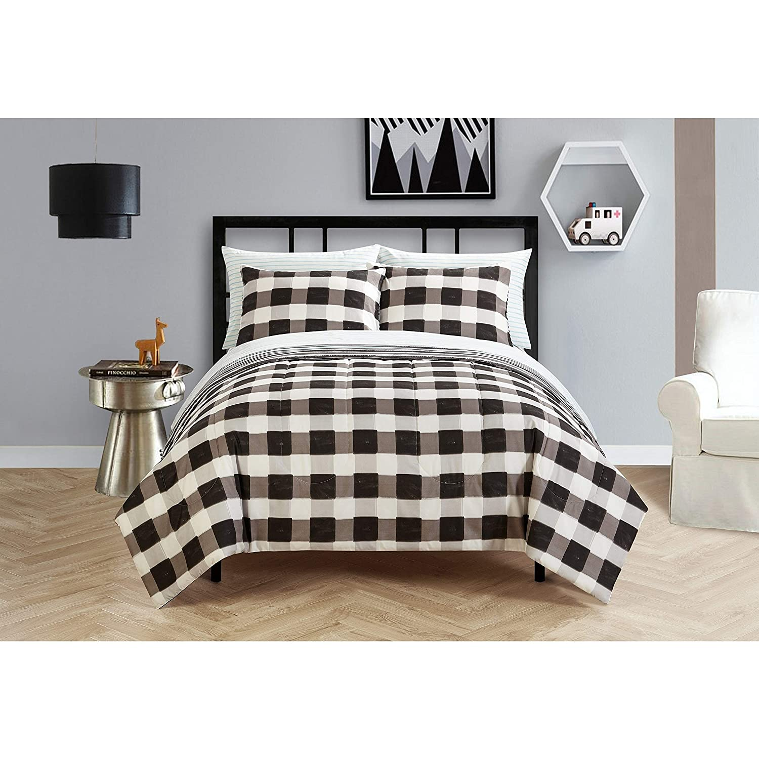 Idea Nouva Checkered Bed in A Bag, Full, Multi
