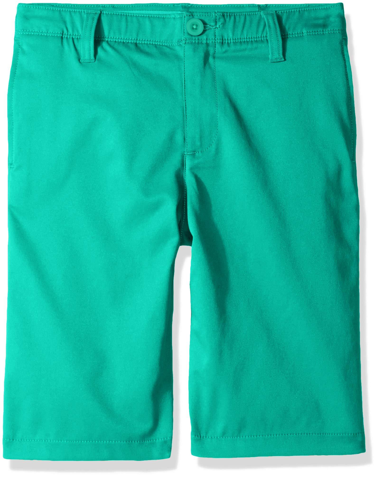 Under Armour Boys' Match Play Polo Shorts, Green Malachite (349)/Green Malachite,18 by Under Armour