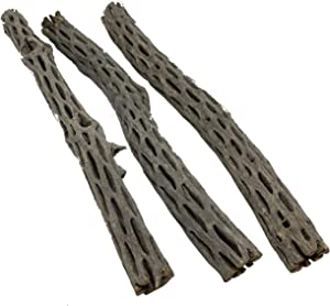 "Awesome Aquatic Long Natural Cholla/Choya Wood 3 Pieces 12"" for Shrimp Habitat and Food Treat Hermit Crabs Plecos Aquarium Decoration Lowers pH Hideouts and Chew Toys Reptiles Organic"