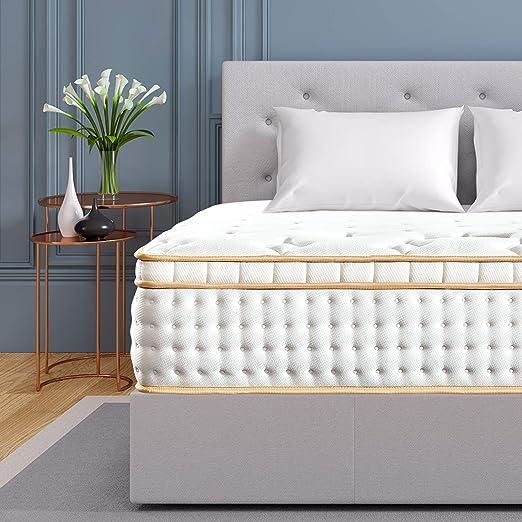 """BedStory 12/"""" Gel Infused Memory Foam Hybrid Mattress Twin Full Queen King Size"""