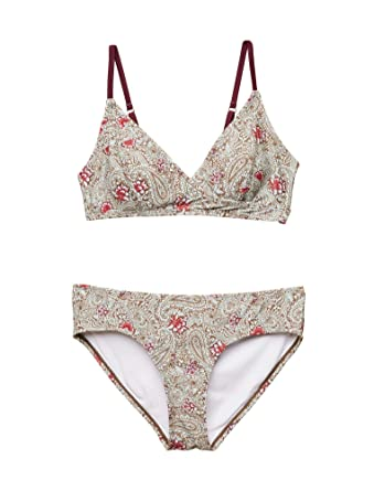 55ced027626 Jessica Simpson Tie Detail Maternity Bikini Swimsuit at Amazon Women's  Clothing store: