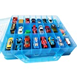 HOME4 Double Sided No BPA Toy Storage Container - Compatible with Mini Toys, Small Dolls Hot Wheels Tools Crafts - Toy Organi
