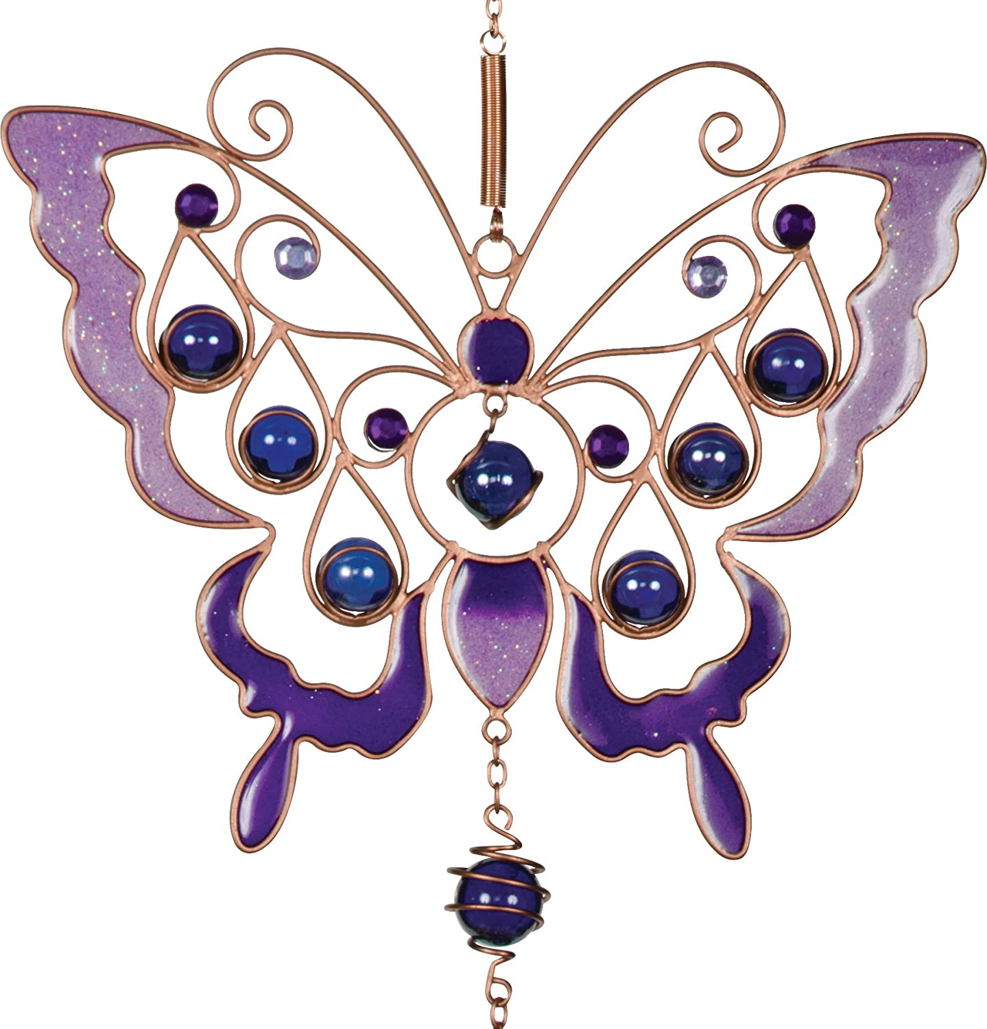 Angelstar Orchid Butterfly Wind Chime Multicolored