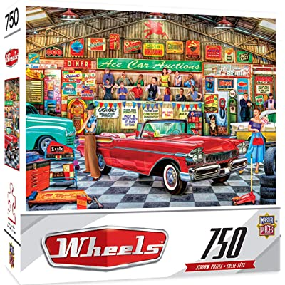 MasterPieces Wheels Jigsaw Puzzle, The Auctioneer, Featuring Art by Linda Berman, 750 Pieces: Toys & Games