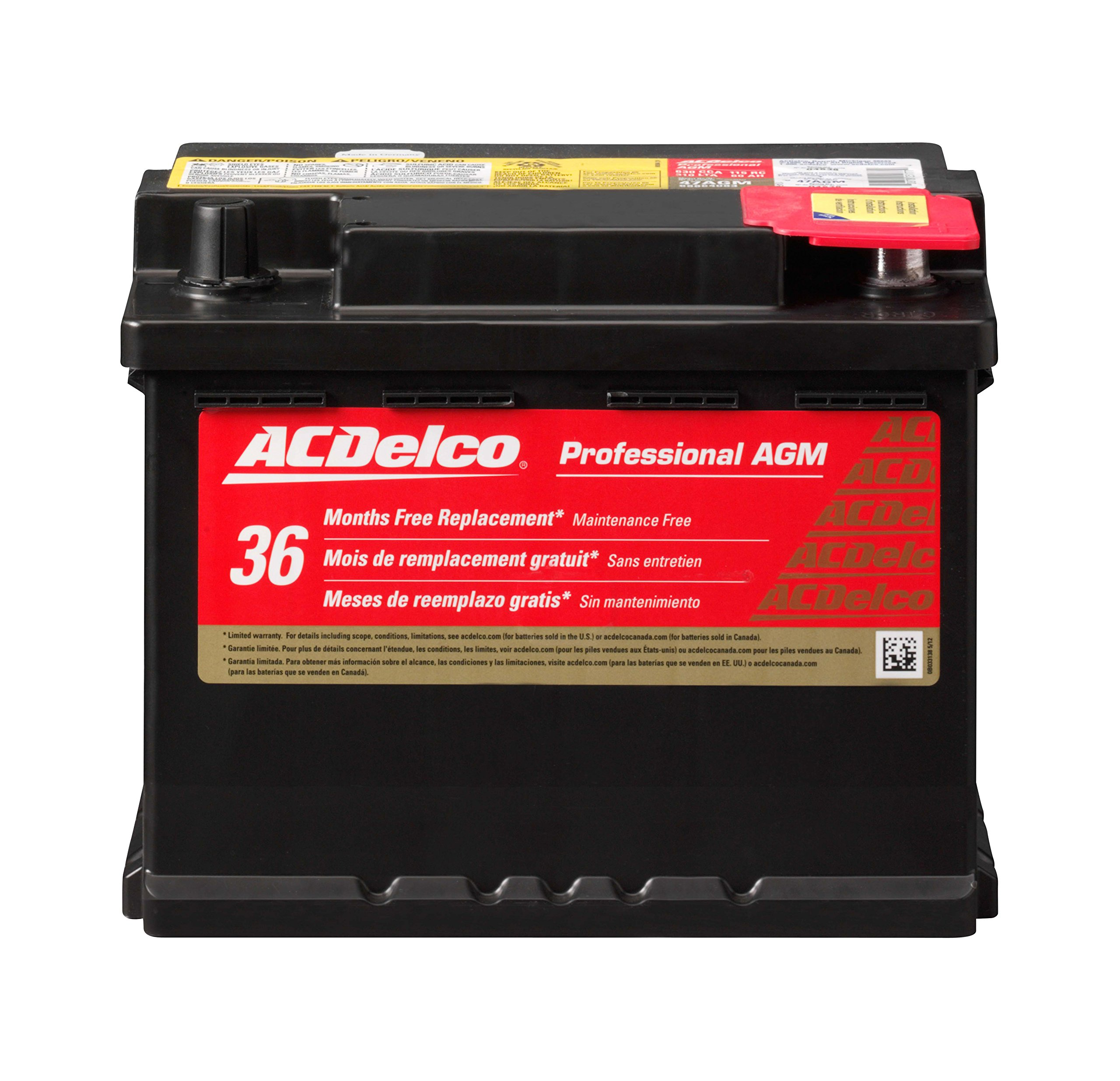 ACDelco 47AGM Professional AGM Automotive BCI Group 47 Battery by ACDelco