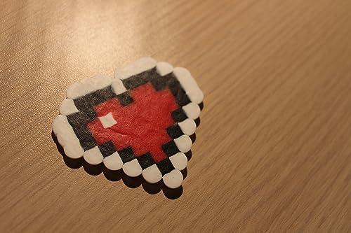 Legend of Zelda heart container perler beads