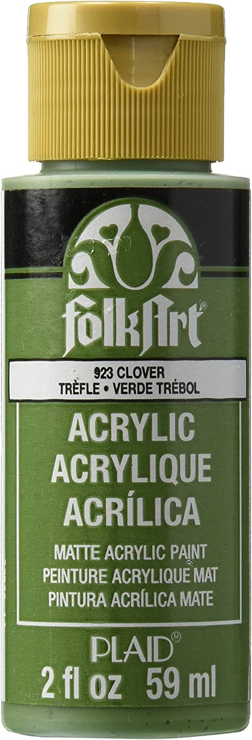 FolkArt Acrylic Paint in Assorted Colors (2 oz), 923, Clover