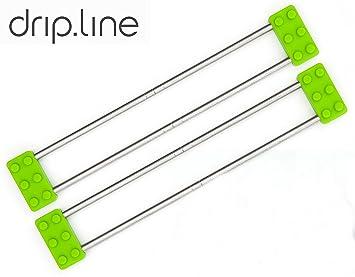 Sanni Shoo - Drip.Line 3 In 1- Multifunktionaler Abtropfer Für Die Küche –  Verstellbar - Abtropfgestell Spültuchhalter Abtropfgitter ...