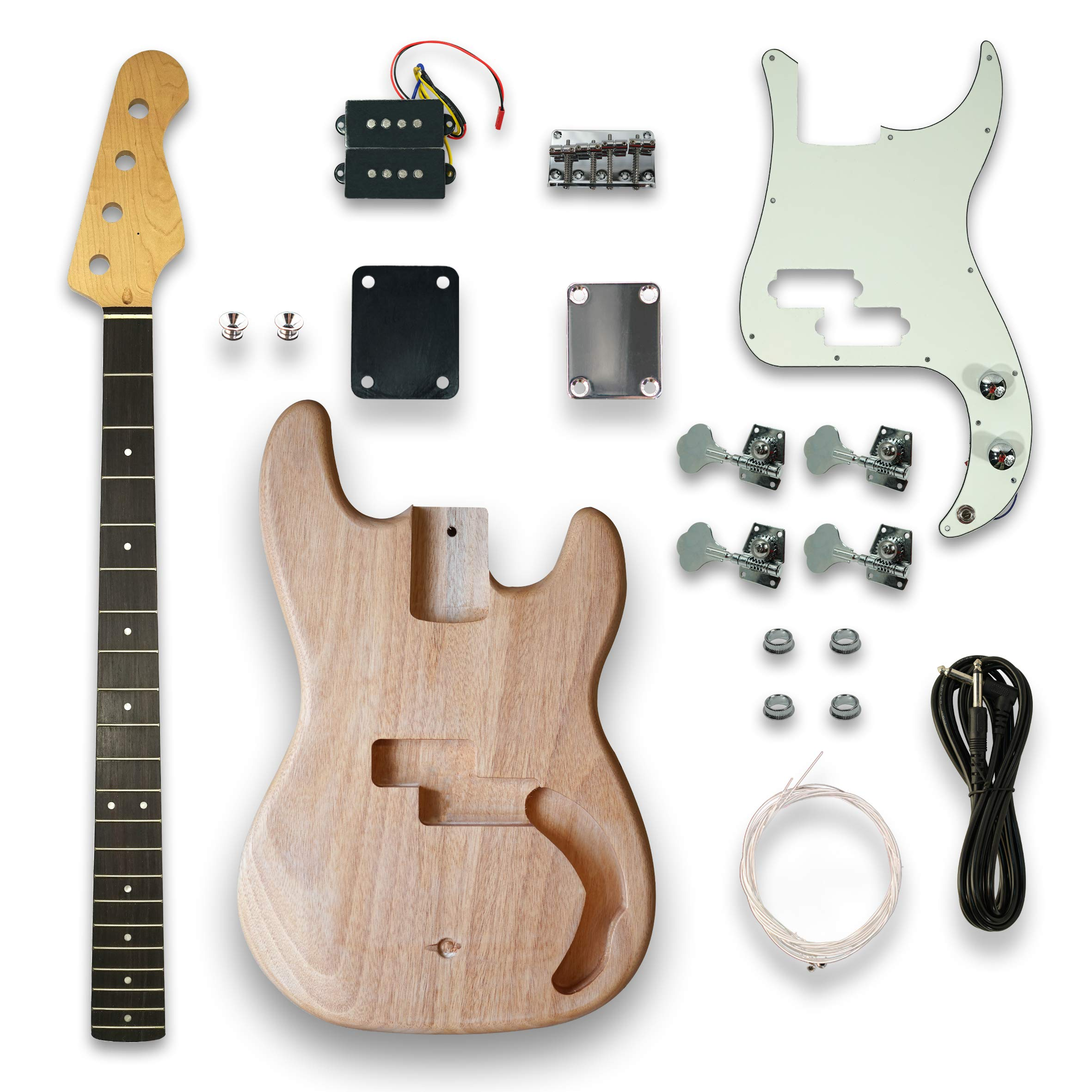 DIY Electric Guitar Kits For PB Style bass Guitar,Okoume Body by Unknown