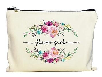 Amazon.com: Bolsa de maquillaje para niña con flores, regalo ...