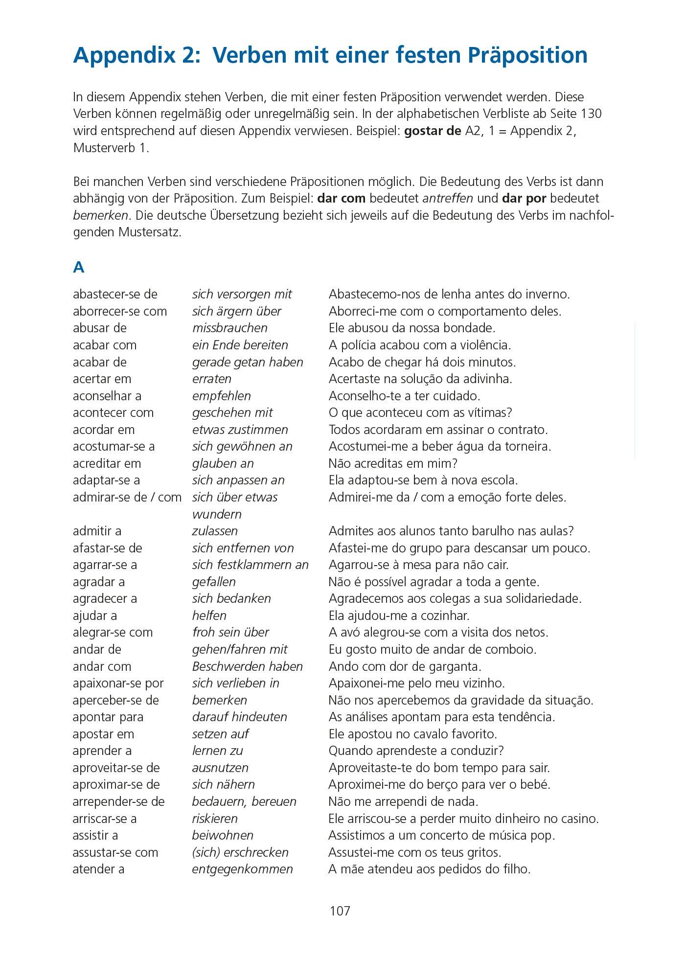 pons verbtabellen portugiesisch 9783125618756 amazoncom books - Praposition Beispiel
