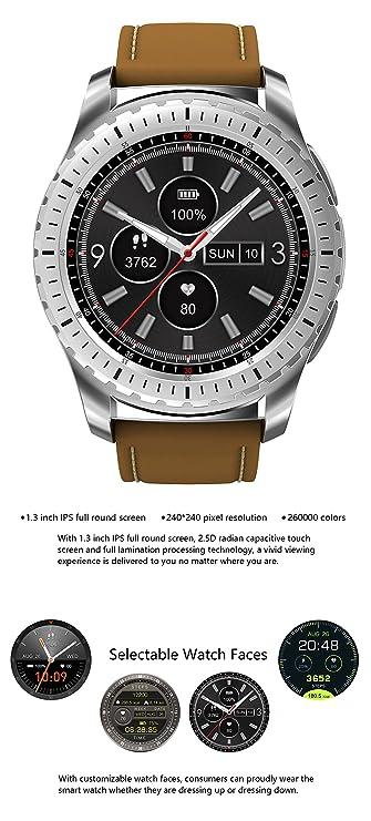 Amazon.com: KINGWEAR KW28 1.3inch MTK2502 Heart Rate Sleep ...