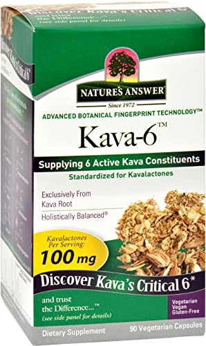2Pack Nature s Answer Kava 6 Capsules – Gluten Free – 90 Vegetarian Capsules