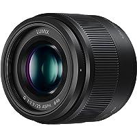 Panasonic H-H025E LUMIX G Festbrennweiten 25 mm F1.7 ASPH. Objektiv (Bildwinkel 47°, Filtergröße 46 mm, Naheinstellgrenze 0,25 m) schwarz