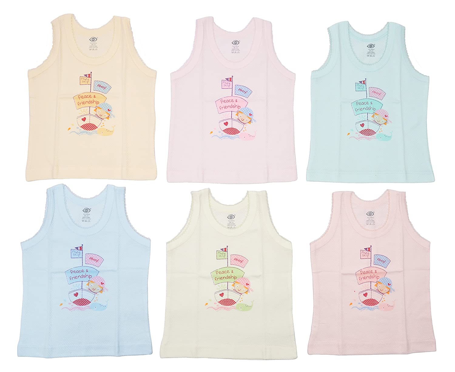 Pack of 2 In the Night Garden Official Childrens Girls Cotton Vests