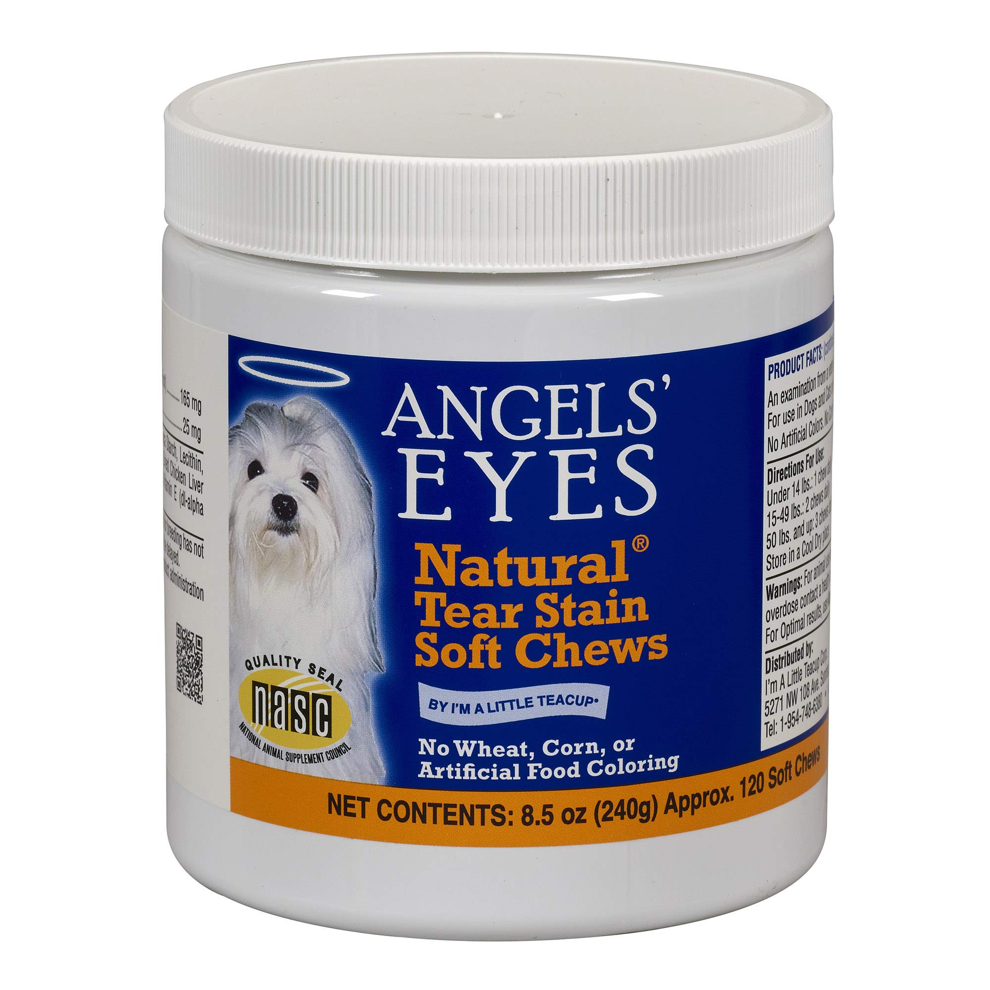 Angel's Eyes 120 Count Natural Chicken Formula Soft Chews for Dogs by Angel's Eyes