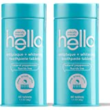 Hello Antiplaque + Whitening Toothpaste Tablets Gently Remove Surface Stains, Delicious Farm Fresh Peppermint, Fluoride…