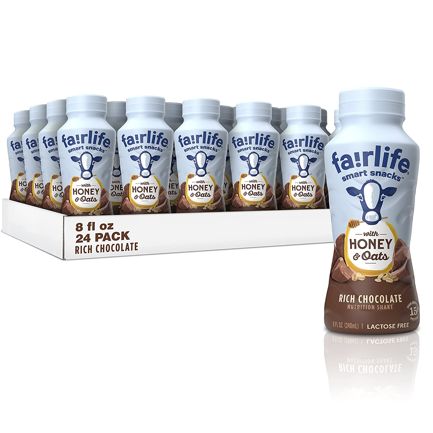 faa9b9fba87 Amazon.com : fairlife smart snacks, High Protein (15g), Lactose Free, Rich  Chocolate, 8 fl oz, 24 count : Grocery & Gourmet Food