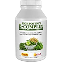 Andrew Lessman High Potency B-Complex 180 Capsules - with High Levels of Folate...