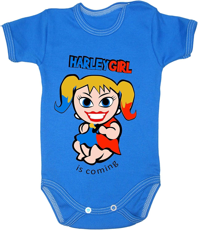 /0007 Red 0-3 months 62 cm Couleur Mode b/éb/é Harley Quinn bodies /à manches courtes 100/% coton Petit b/éb/é/ /24/mois/