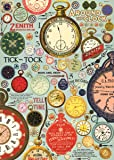 Cavallini & Co. Vintage Clocks Poster Wrapping Paper Sheet