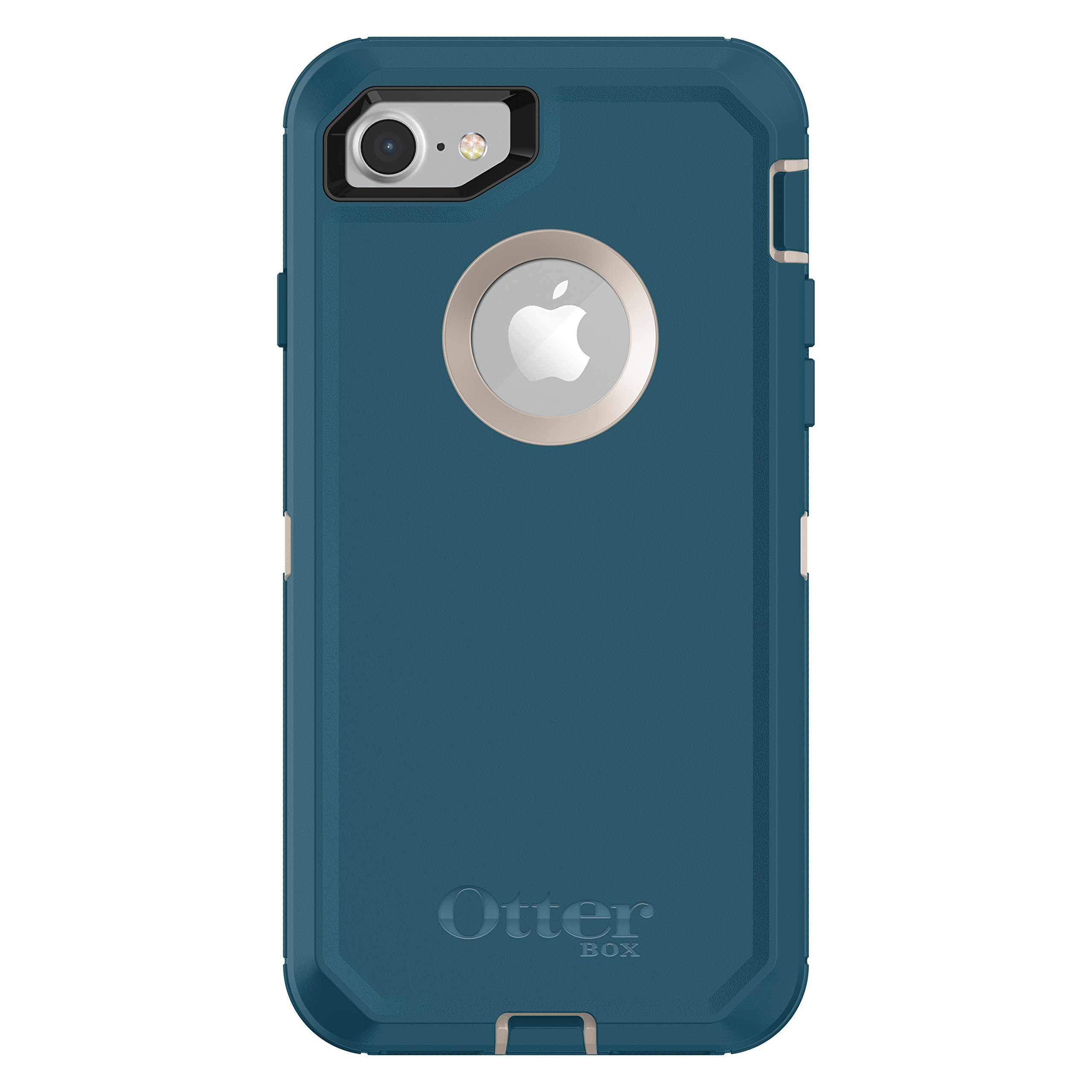 OtterBox Defender Series Case for iPhone 8 & iPhone 7 (Not Plus) - Retail Packaging - Big Sur (Pale Beige/Corsair)