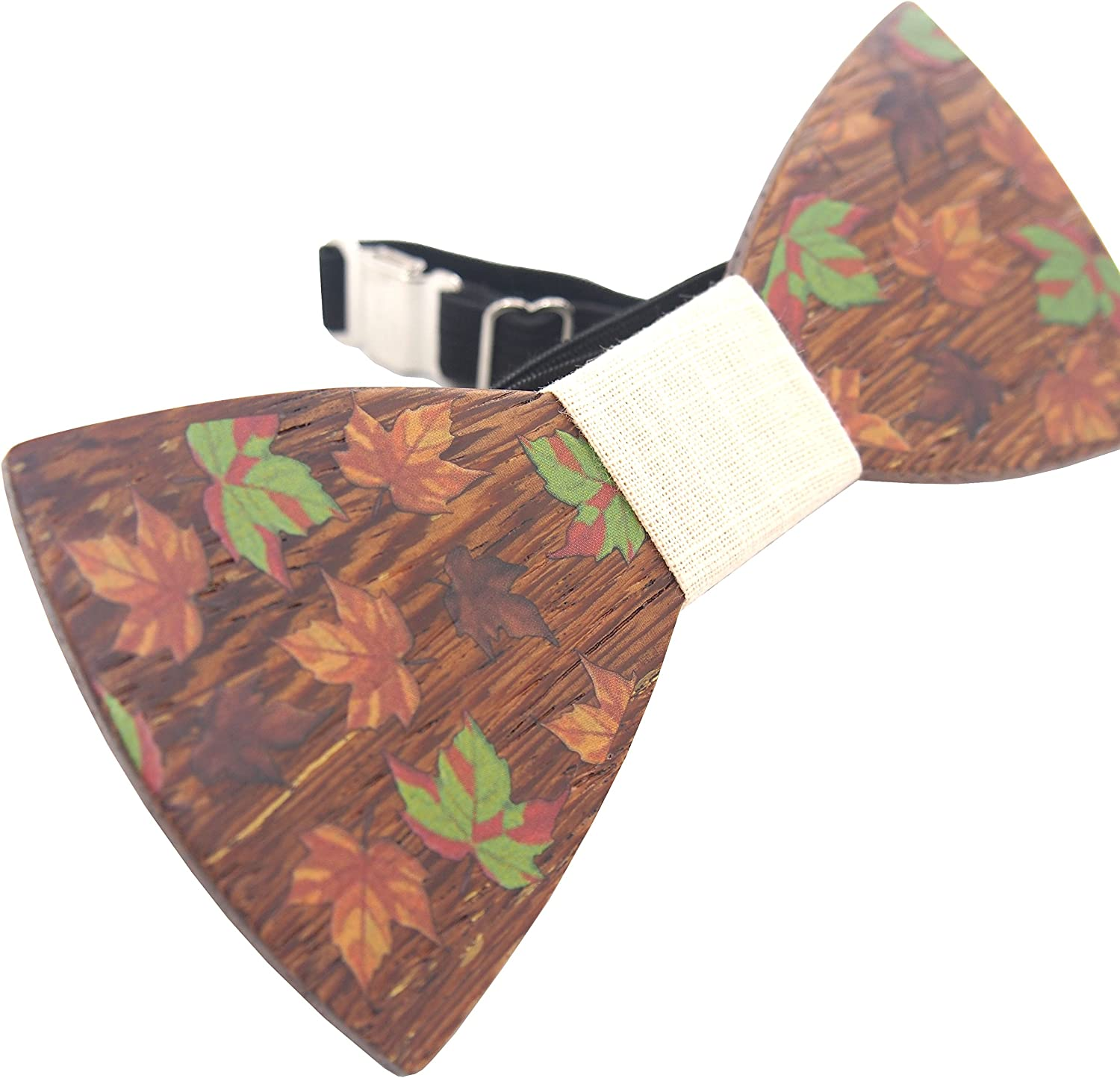 Best M Mens Tie Wedding Slim Wood Bow Tie Wooden Cravat Formal Tie Party Tie
