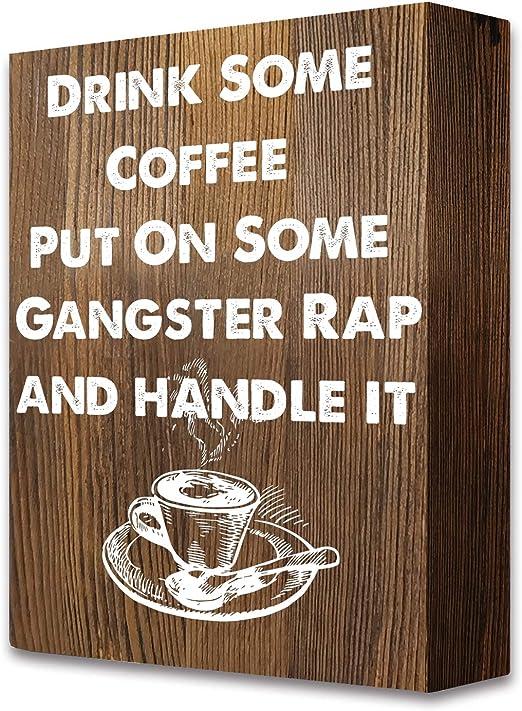 com akeke funny coffee quotes rustic farmhouse wooden box