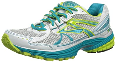 eff0d0a6b1150 Brooks Womens Defyance 7 W Running Shoes 1201481B331 Caribbean White Green  Glow 10 UK
