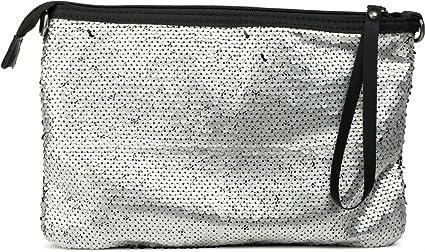 db690a0b55 styleBREAKER pochette de soirée avec paillettes réversibles et dragonne,  sac, femme 02012138, couleur