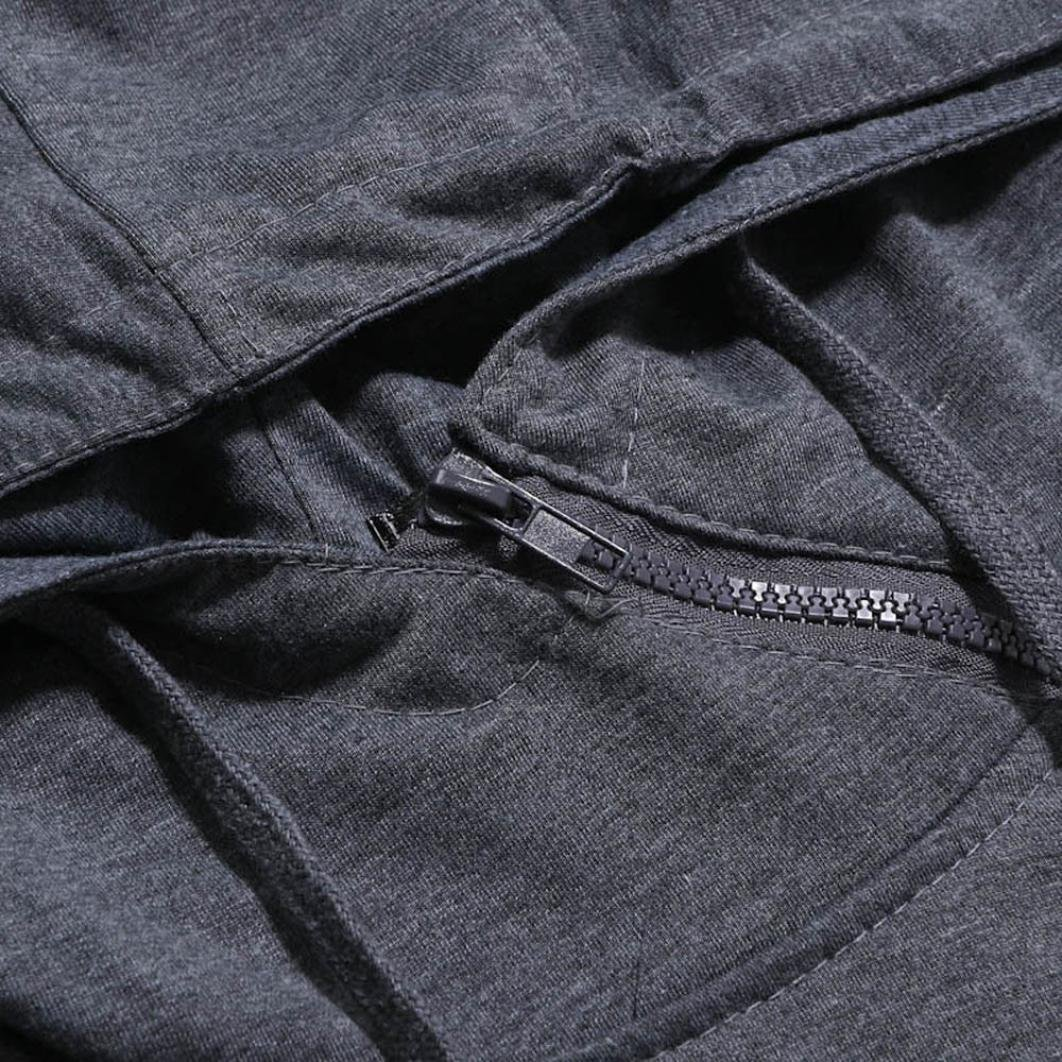 Fashion Drawstring Hooded Mens Hoodies T-Shirts Casual Pullover Short Sleeve Tee Shirts Side Zipper by Inkach