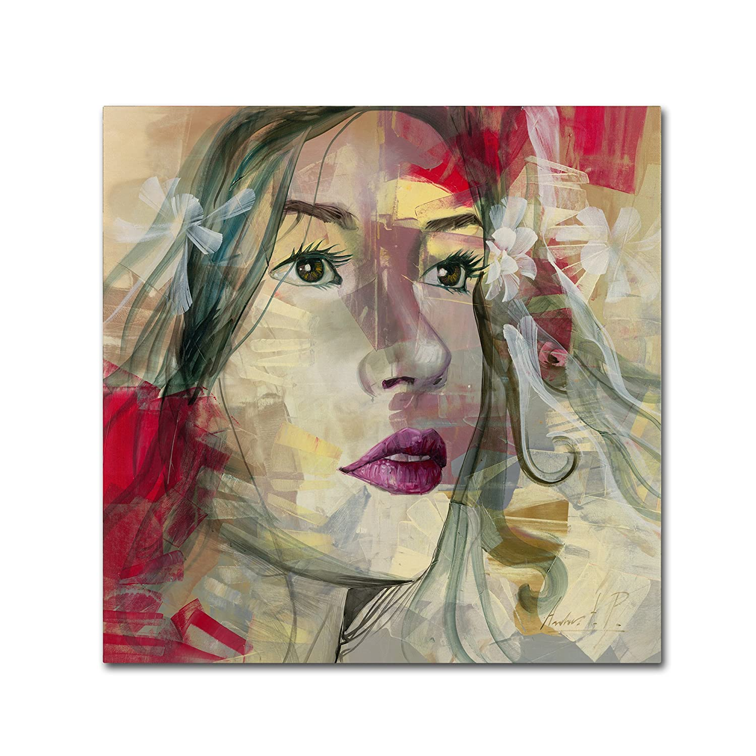 Trademark Fine Art Ana Lucia Artwork by Andrea, 35-Inch by 35-Inch