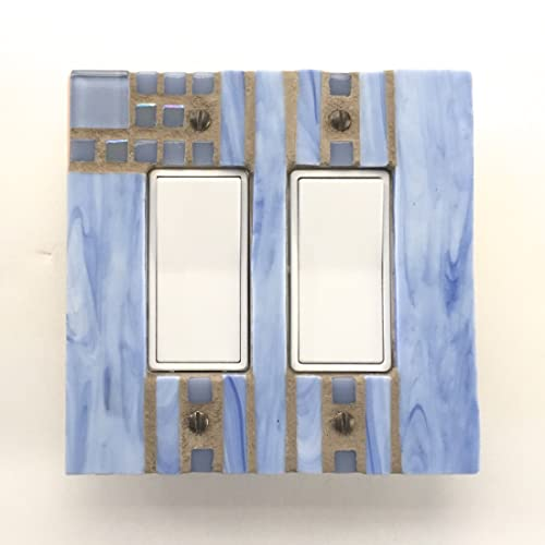 Amazoncom Blue Light Switch Plate Decorative Switch Cover Mosaic