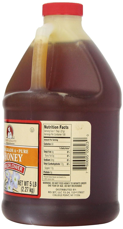 Amazon com : Chef's Quality: Wildflower Honey 5 Lb